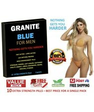 10 x GRANITE BLUE - EXTRA STRONG MEN'S ERECTION, AROUSAL, SEX PILLS, + FREE GIFT