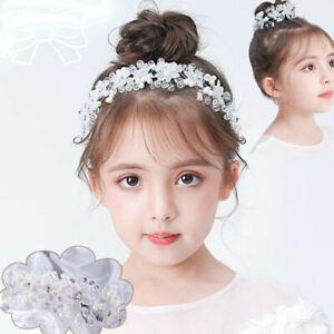HAIR BUN RING HEADBAND BRIDESMAID FLOWER GIRL CONFIRMATION  FIRST HOLY COMMUNION