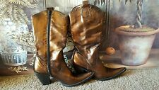 Kenneth cole new york Vera Gomma made in Italy  bronze cowgirls dream boots sz 9