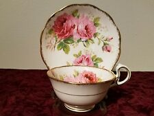 """Royal Albert """"American Beauty"""" cup and saucer made in England"""