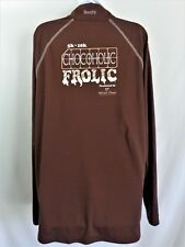 CHOCOHOLIC FROLIC BornFit Brown Running Athletic L/S Shirt Womens Size LARGE L