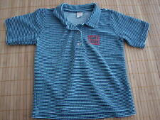 Boys CAKEWALK Blue Striped Velour s/s Top Shirt 92 2 3