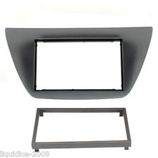 CT24MT11 MITSUBISHI LANCER 2004 to 2008 BLACK DOUBLE DIN FASCIA ADAPTER PANEL