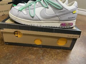 """off white x nike dunk low """"dear summer"""" the 50 Lot 4/50 Size 13"""