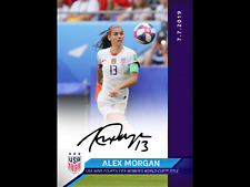 2019 World Cup Panini Instant USWNT #18 Alex Morgan USA autograph auto /15 SP