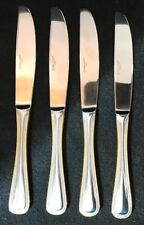 Wallace Gold Royal (4) Knives 18/10 Stainless Flatware Excellent