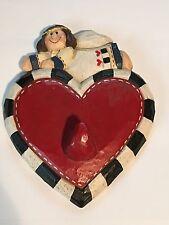 Eddie Walker Angel Heart Wall or door hanger hook ~ Midwest Valentines Day Love