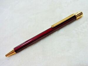 Cartier must de Santos Bordeaux Lacquer Gold Ballpoint Pen