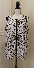 Vince Camuto Leopard Cheetah Animal print tank blouse Plus size 1X