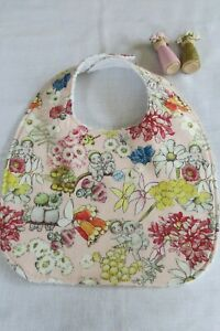 Handmade bib- Gum Nut Babies on pink ~` May Gibbs