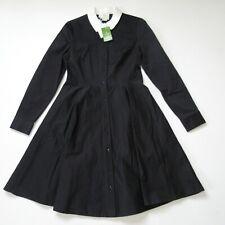 Kate Spade Joel in Black Contrast Collar Cotton Shirt Dress 6