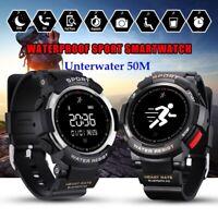 IP68 Waterproof Heart Rate Monitor Smart Watch GPS Outdoor Sports Track Bracelet