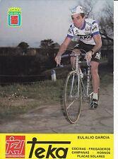 CYCLISME carte cycliste EULALIO GARCIA équipe TEKA 1981