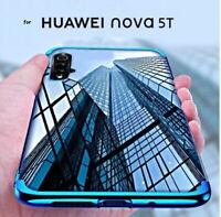 COVER per HUAWEI Nova 5T CUSTODIA ELECTRO SLIM TPU + PELLICOLA VETRO TEMPERATO