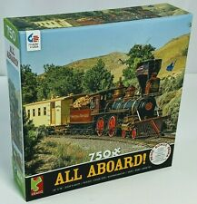 All Aboard! Valley of the Mountain 750pc Jigsaw Puzzle by Ceaco Train