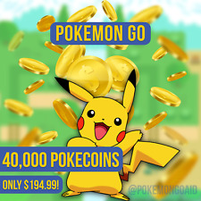 Pokemon Go PokeCoins—40,000 Coins for $194.99! Safe, Fast, and Easy! ✅