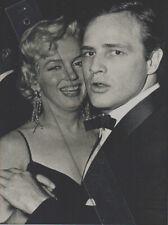 Foto MARILYN MONROE + MARLON BRANDO - Pressefoto Aufnahme 1950er - Hollywood