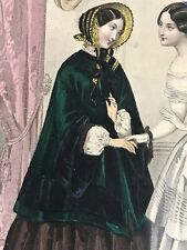 French MAGASIN DEMOISELLES SEWING PATTERN Nov 1st, 1851 COAT (photo)+ embroidery