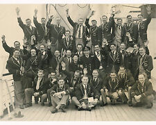 SOUTH AFRICA SPRINGBOKS TOURING TEAM 1951 - 1952 RUGBY SQUAD PHOTO ON BOARD SHIP