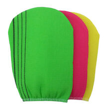 Korean Italy Exfoliating Body-Scrub Towel Glove 3Pcs Sephar  red yellow green