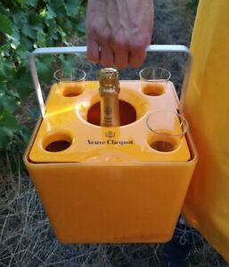 PORSCHE DESIGN Veuve Clicquot Ice Cube Champagne Bucket & 4 Glass Flutes Cliquot