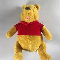 "Disney Store Pooh Bear Plush 15"" Stuffed Beans Toy Soft Velour Cute Cuddly Teddy"