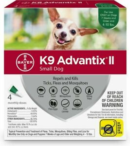 Bayer K9 Advantix II for Small Dogs - For Dogs 4-10 Pounds