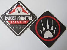 Beer Collectible Coaster ~ BADGER MOUNTAIN Brewing Co ~ Wenatchee, WASHINGTON