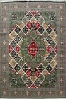 Transitional GREEN Tebriz Turkish Oriental Area Rug Geometric Large Carpet 10x13