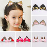 1 Pair Kids Girls Toddlers Hair Clips Cat Hairpin Princess Custom Play Dress