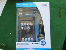 THE ESSENTIALS KIT FOR IPOD TOUCH - CASE ,IN CAR ADAPTER - AUX CORD NIB