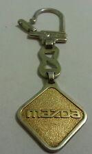 "Vtg Sterling 950 And Gold 585 Key Chain Mazda car mono A K rare, 22.6 gr 4"""