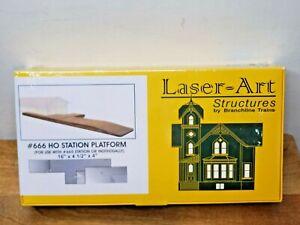 Branchline Laser-Art Structures HO #666 Station Platform FREE SHIPPING!