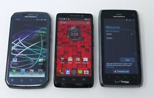 Lot of 3 Various Working Motorola Smartphones - Photon 4G / Droid Mini / Droid 4