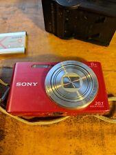 Sony Cyber-shot DSC-W830 20.1MP Digital Camera - Red