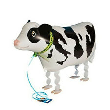 Walking Helium Shower Wedding Animal Foil Balloon Birthday Cow Shaped Party