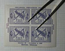 Ops Convention Shawnee Ok Oklahoma State Flag 1936 Philatelic Souvenir Ad Label