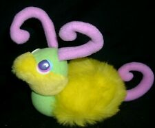 VINTAGE MATTEL 1987 HOOKS STUFFED ANIMAL PLUSH SNAIL PINK YELLOW RARE HTF GREEN