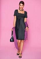 schlichtes edles VIVANCE Kleid Abendkleid in toller Faltenform Gr.34 NEU schwarz