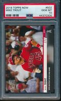 2019 Topps Now Mike Trout PSA 10 Gem Mint Card #502 SP Los Angeles Angels