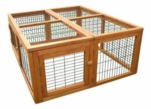 BUNNY BUSINESS FULLY FOLDING UNIVERSAL RABBIT GUINEA PIG RUN ATTACHING RUNS