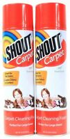 2 Shout Carpet Cleaning Foam Perfect For Large Area Fresh Scent Pet Stains 22 oz