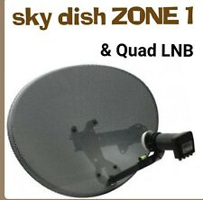 SkY Satellite Dish  ZONE 1  + Quad LNB  + wall bracket  * NEW *