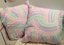 "❤️Set of 2 Pillows Rainbow Colors Decorative Accent 12"" Square Super Cute!"
