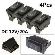Durable 4PCS Plastic Black Car Power Door Lock/Power Window Rocker Switches 5Pin