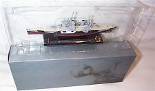 HMS Anson war Ship Mounted on display Plinth 1:1250 Scale  mib