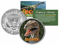 VELOCIRAPTOR * Collectible Dinosaur * JFK Kennedy Half Dollar US Colorized Coin