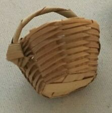 2 Dollhouse Wicker Baskets Home Decor Living Room Kitchen Porch for Table Bread