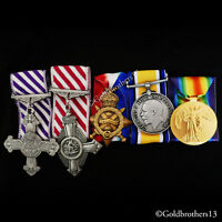 DFC , AFC & WW1 Medals Trio 1914 - 15 Star , British War Victory Medal SET Repro