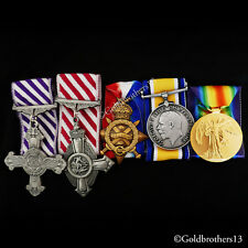 DFC , AFC & WW1 Medals Trio 1914 - 15 Star , British War Victory Medal SET Repro